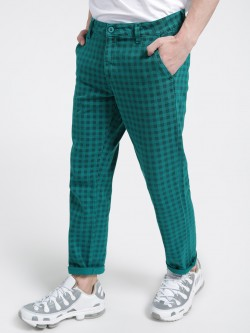 X.O.Y.O Gingham Check Cropped Slim Trousers