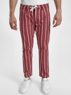 X.O.Y.O Vertical Stripe Cropped Trousers