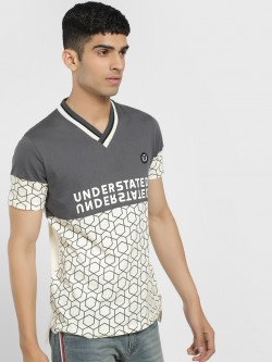 X.O.Y.O Understated Geometric Colour Block T-Shirt