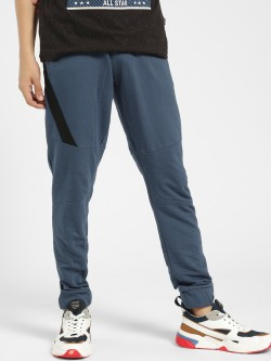 X.O.Y.O Contrast Side Zipper Tape Panelled Joggers