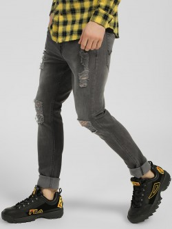 Styx & Stones Heavy Distressed Light Wash Jeans