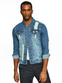 Styx & Stones Light Wash Distressed Denim Jacket
