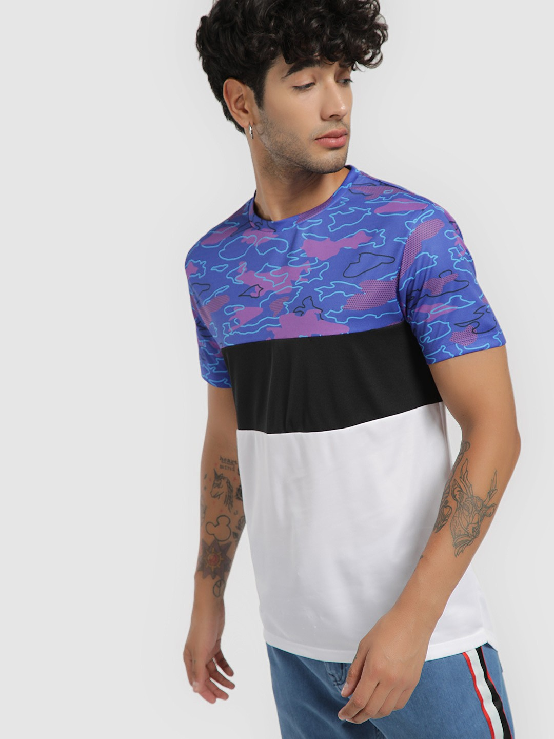 KOOVS Multi Pop Camo Panel T-Shirt 1