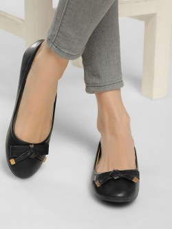 Truffle Collection Basic Bow Detail Ballerinas