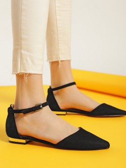 Truffle Collection Basic Suede Flat Shoes