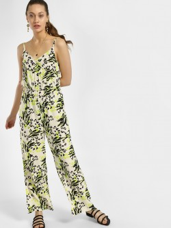 KOOVS Mixed Animal Print Jumpsuit