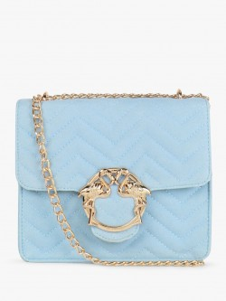 Skinny Dip Flamingo Clasp Quilted Sling Bag