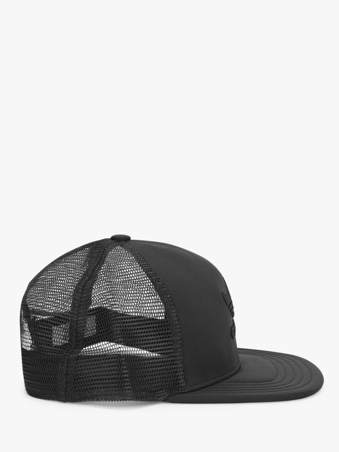 details for lower price with detailed look Buy Adidas Originals Black Trefoil Heritage Trucker Cap for ...