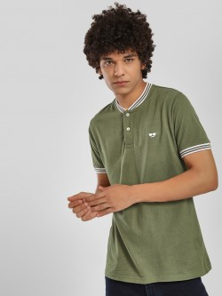 Garcon Pique Baseball Collar Polo Shirt