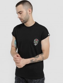 Garcon Skull Badge Cap Sleeve T-Shirt