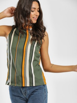 AND Striped Sleeveless Top