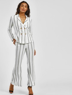 Ri-Dress Vertical Striped Flared Trousers