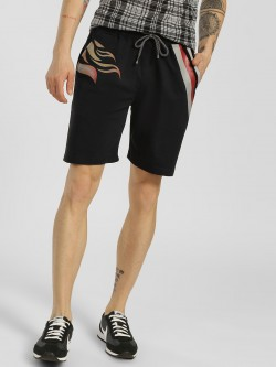 Tiktauli Contrast Placement Print Shorts