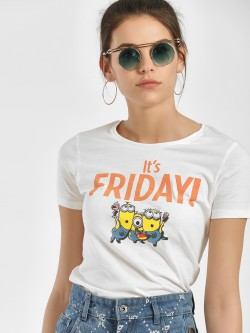 Free Authority Its Friday Print Minion T-Shirt