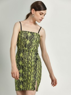 KOOVS Snake Print Bodycon Dress