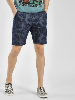 Flying Machine Tropical Palm Print Shorts