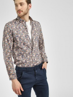 Indigo Nation Floral Print Casual Shirt
