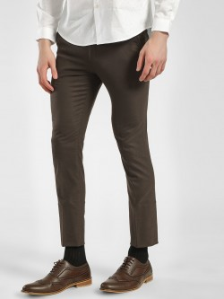 Indigo Nation Woven Slim Fit Cropped Trousers
