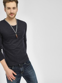 Celio Zip-Up Long Sleeve T-Shirt