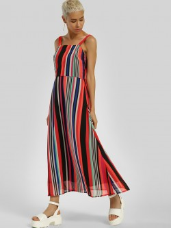 Closet Drama Multi-Stripe Strappy Maxi Dress