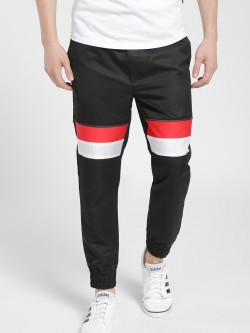 KOOVS Colour Block Zipper Detail Joggers