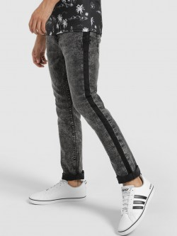 Blue Saint Stone Wash Side Stripe Jeans