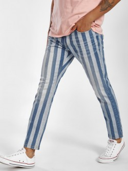 Blue Saint Vertical Stripe Slim Jeans