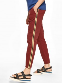 Blue Saint Contrast Side Tape Drawcord Trousers