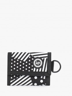 Hype Mix Stripe Print Trifold Wallet