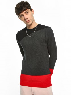 Akiva Colour Block Knitted Pullover