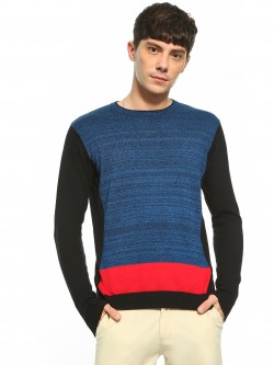 Akiva Colour Block Crew Neck Pullover