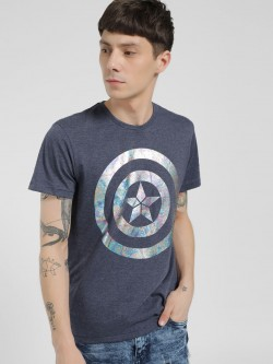 Free Authority Captain America Logo Short Sleeve T-Shirt