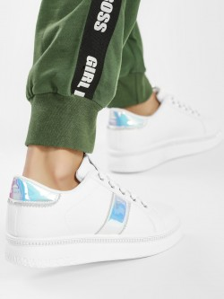 Core Shoes Embellished Holographic Detail Sneakers