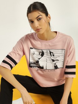 Only Looney Tunes Print Crop T-Shirt