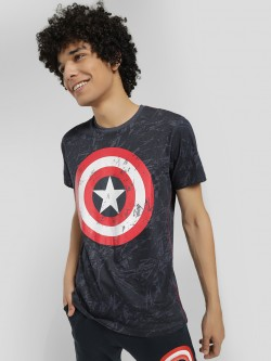 Free Authority Large Captain America Logo T-Shirt
