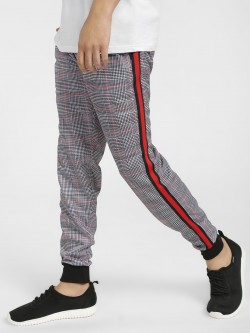 Soulstar Glen Check Side Tape Joggers