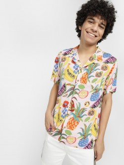 Soulstar Fruit Print Casual Shirt