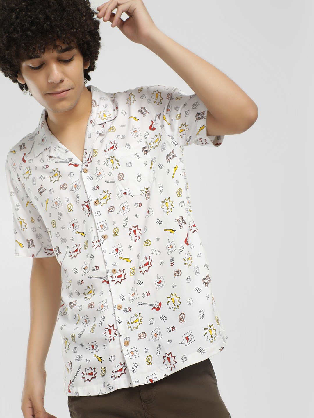 Soulstar White All Over Print Shirt 1