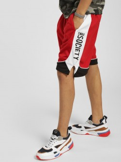 Soulstar Swag Society Contrast Side Tape Shorts