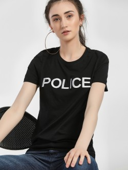 Only Text Embroidered Short Sleeve T-Shirt