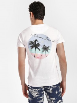 D-Struct Miami Beach Placement Print T-Shirt