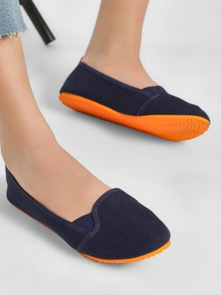 KOOVS Contrast Sole Canvas Ballerinas