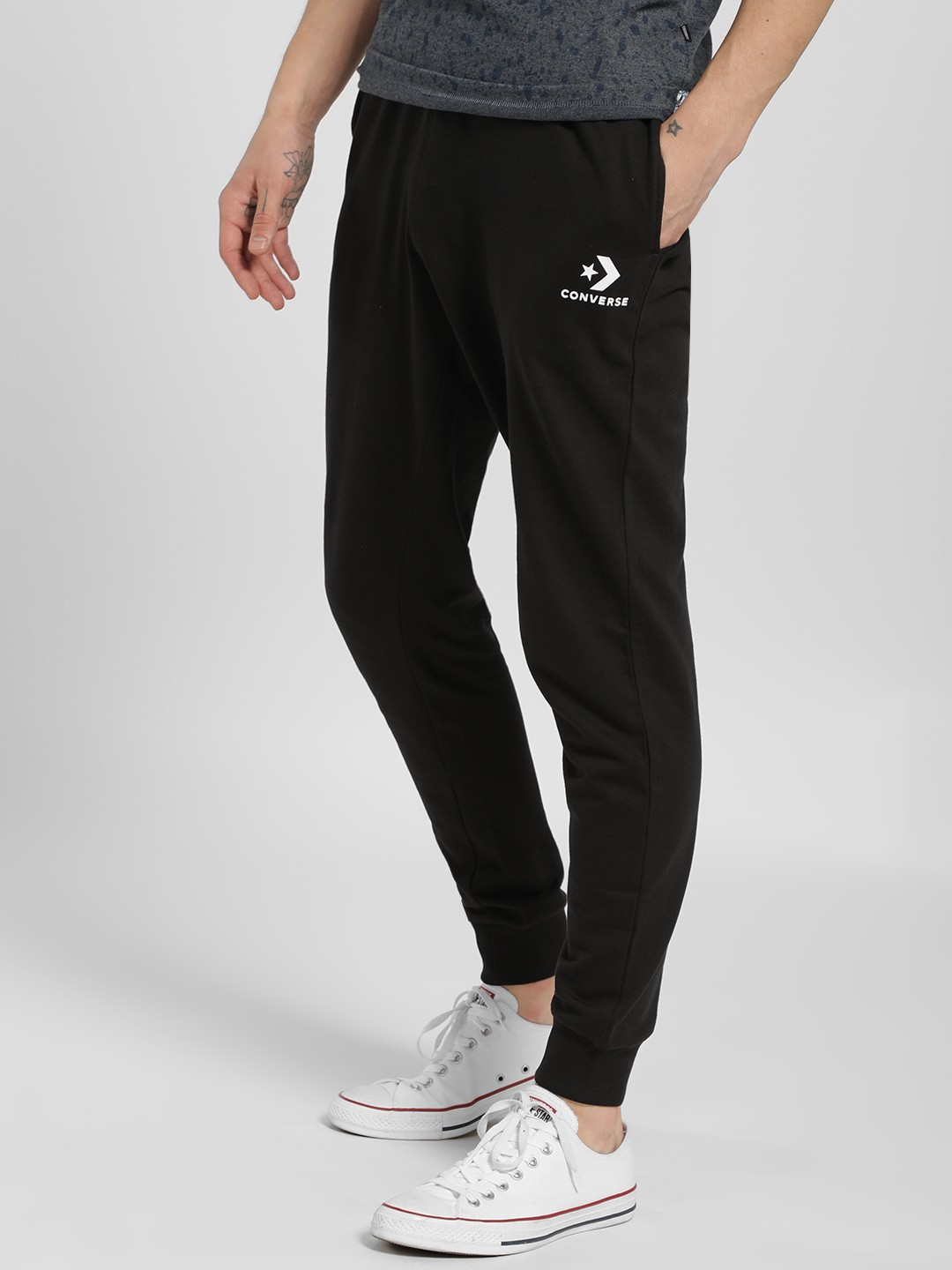 Converse Black Basic Drawcord Joggers 1