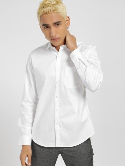 Indigo Nation Self Design Check Formal Shirt