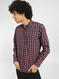 Indigo Nation Buffalo Check Slim Fit Casual Shirt
