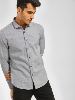 Indigo Nation Long Sleeve Dobby Print Shirt
