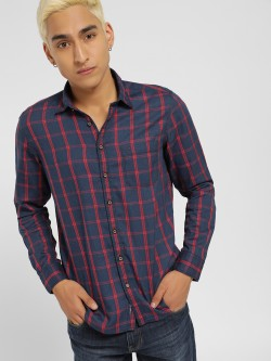SCULLERS Windowpane Check Slim Shirt