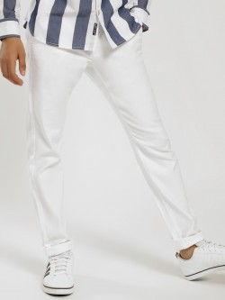 SCULLERS Textured Slim Trousers