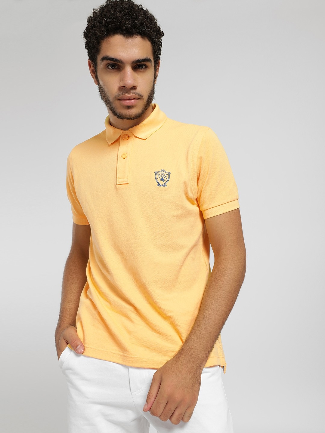 SCULLERS Yellow Basic Polo Shirt 1