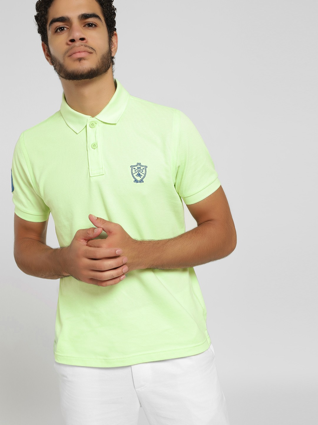 SCULLERS Green Basic Polo Shirt 1